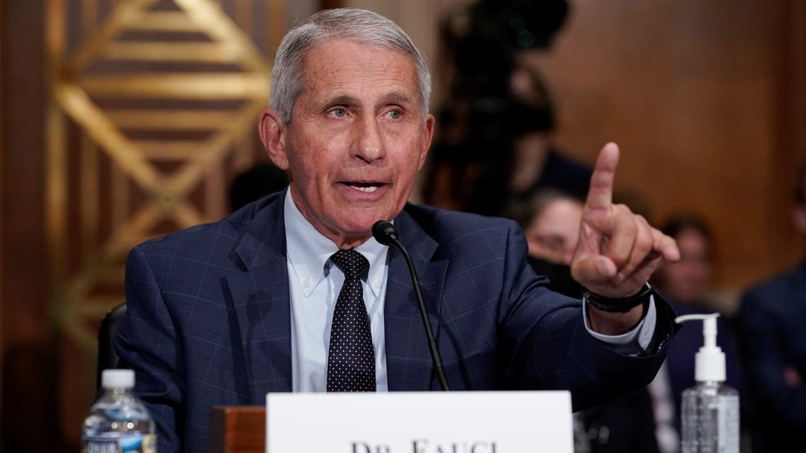 Top infectious disease expert Dr. Anthony Fauci responds to accusations by Sen. Rand Paul (R-KY) as he testifies before the Senate Health, Education, Labor, and Pensions Committee on Capitol hill in Washington, DC, US, July 20, 2021. (Reuters)