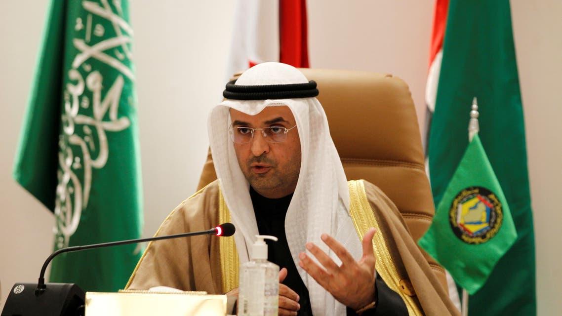 Secretary-General of the Gulf Cooperation Council (GCC) Nayef Falah al-Hajraf gestures during a news conference at the Gulf Cooperation Council's (GCC) 41st Summit in Al-Ula, Saudi Arabia January 5, 2021. (File photo: Reuters)