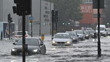 Buses and cars stranded on London roads as storm floods capital