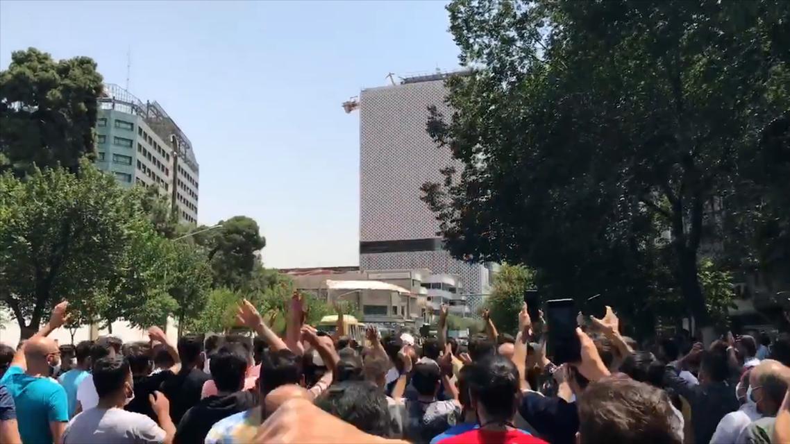 Protests spread to Iran's capital Tehran. (Screengrab)