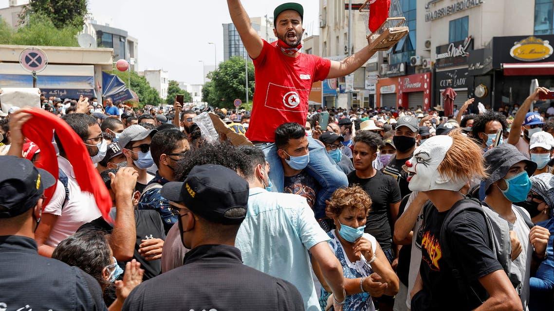 مظاهرات ضد الحكومة في تونس