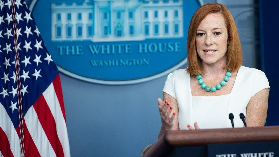 White House Press Secretary Jen Psaki speaks during a press briefing at the White House, July 26, 2021. (AFP)