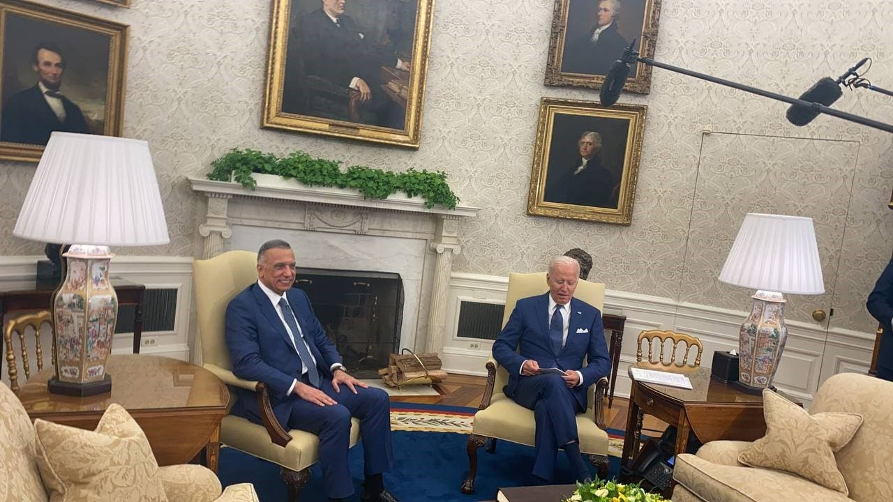بایدن و الکاظمی در کاخ سفید