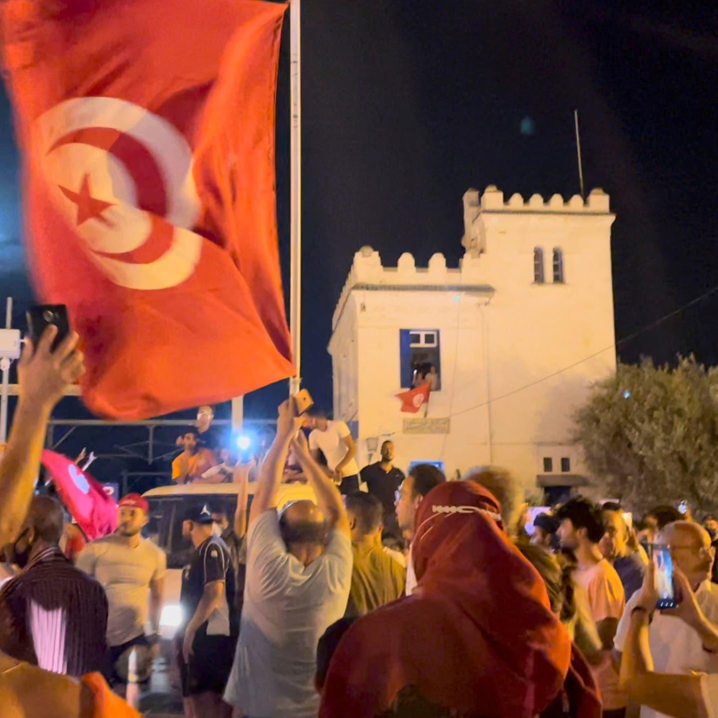 الرئاسة التونسية: تجميد عمل البرلمان يستمر 30 يوما