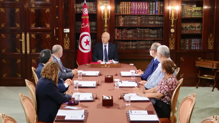 من لقاء قيس سعيد مع رؤساء المنظمات الوطنية