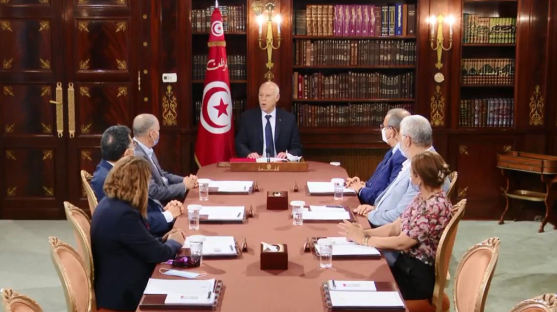 من لقاء قيس سعيد مع رؤساء المنظمات لوطنية
