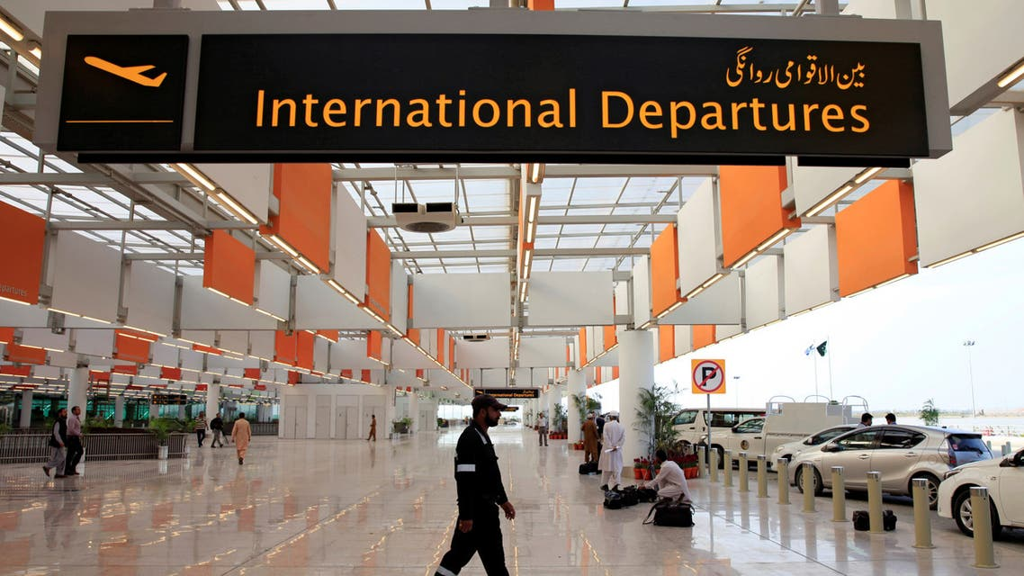 A worker walks at the departure area of the newly built Islamabad International Airport, during a media tour ahead of its official opening, Pakistan April 18, 2018. (Reuters)