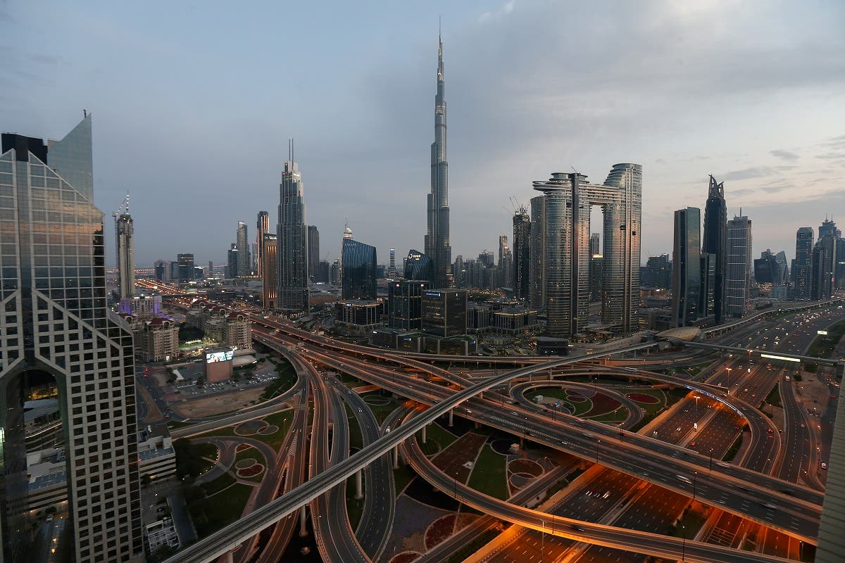 Aerial view of the Sheikh Zayed Road, following the outbreak of coronavirus disease, in Dubai, United Arab Emirates, March 26, 2020. (Reuters)