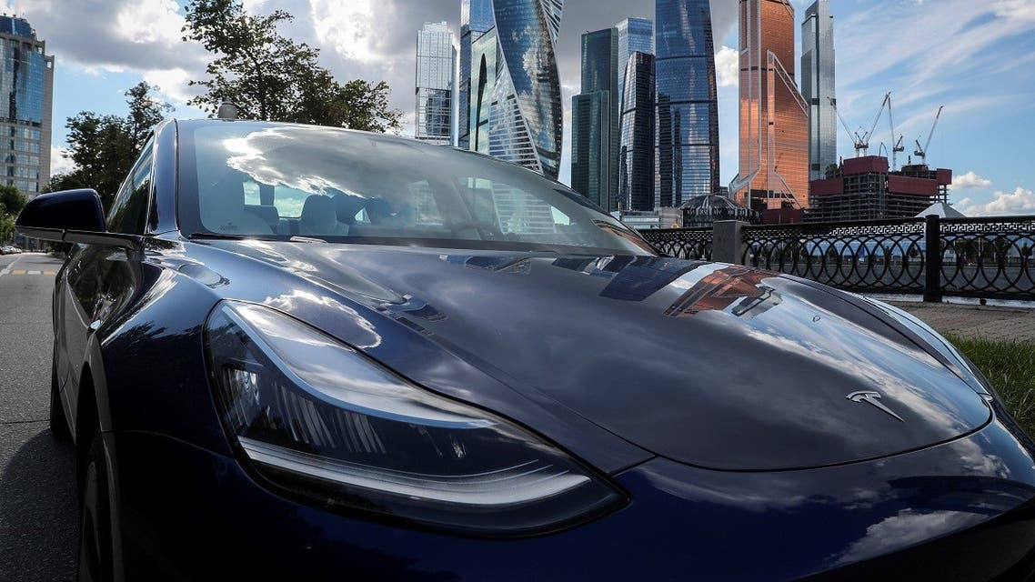 A Tesla Model 3 electric vehicle is shown in this picture illustration taken in Moscow, Russia. (Reuters)