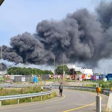 شاهد.. انفجار ضخم في مصنع للكيماويات بألمانيا