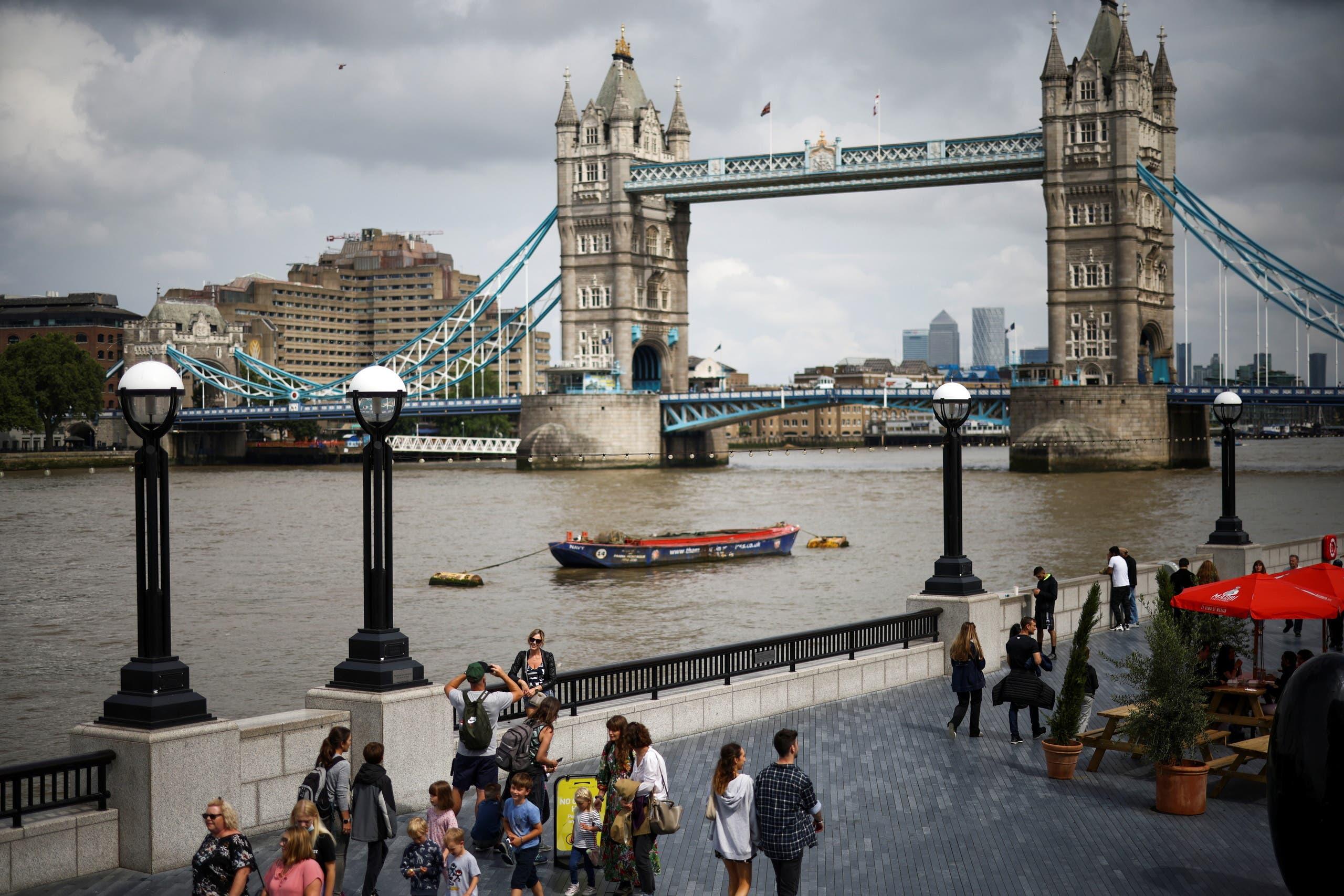 من لندن
