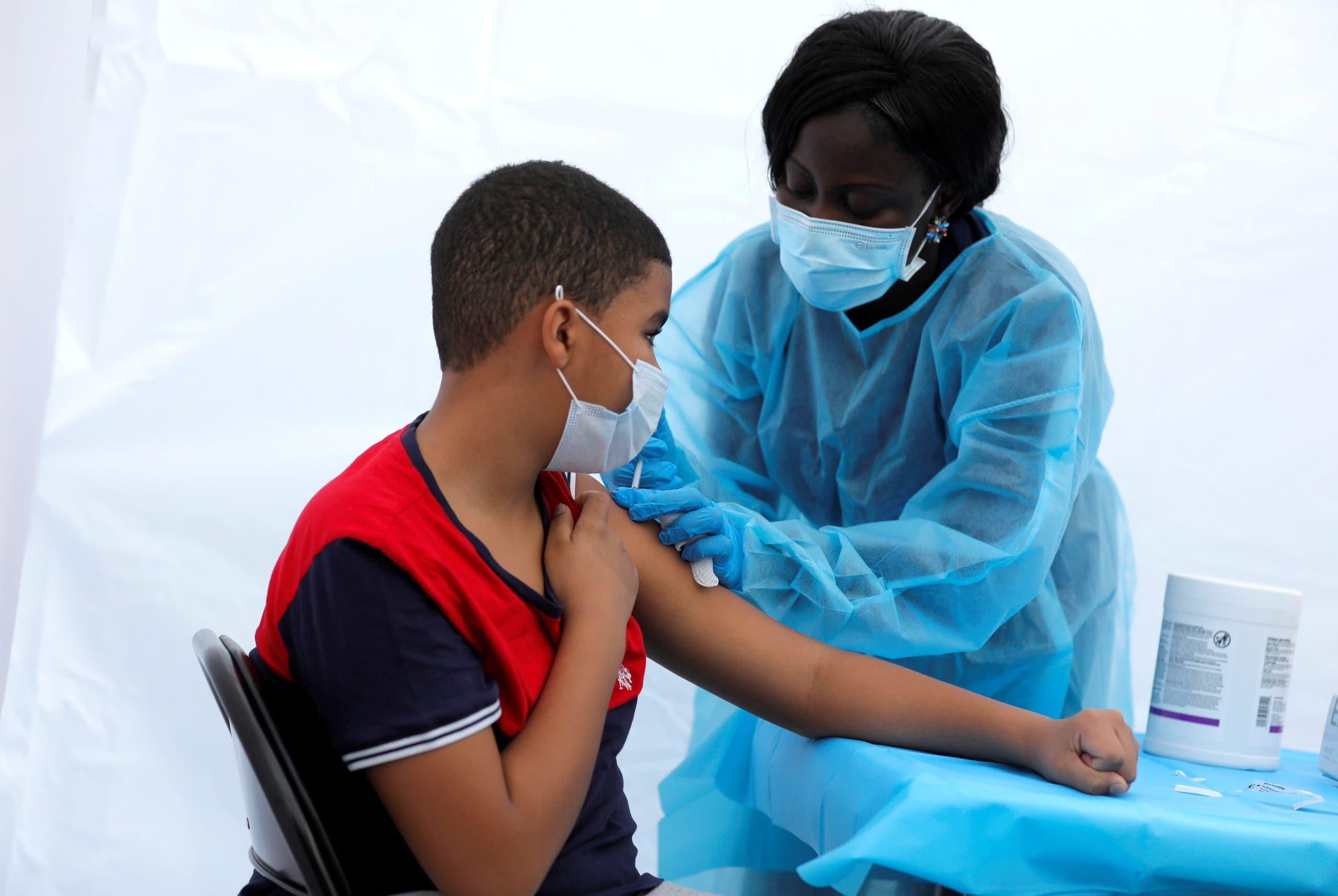 من حملة التطعيم ضد كورونا في نيويورك (أرشيفية)