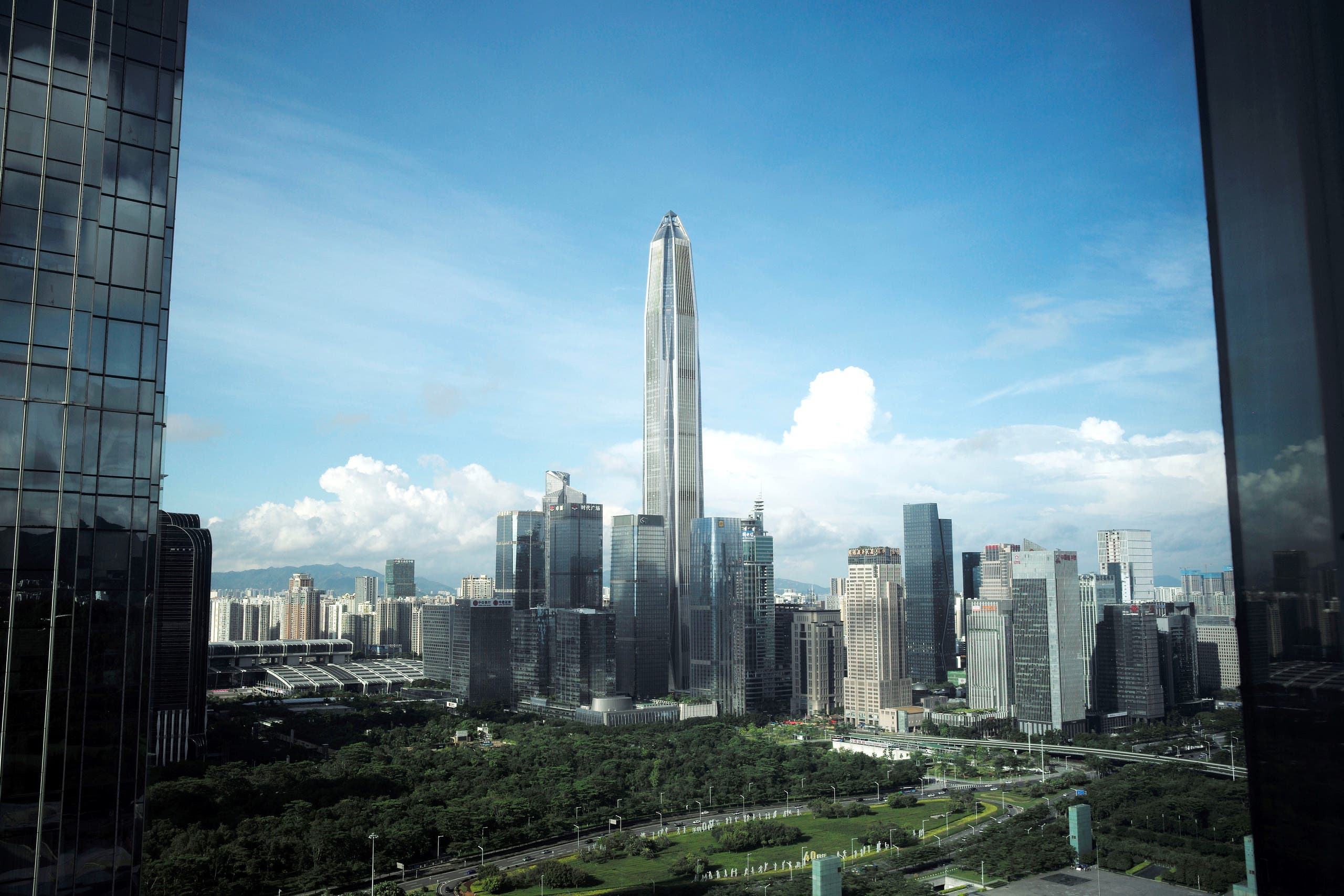The skyscraper Ping An Finance Centre is seen amid other buildings in the central business district of Futian in Shenzhen, Guangdong province, China June 18, 2019. (Reuters)
