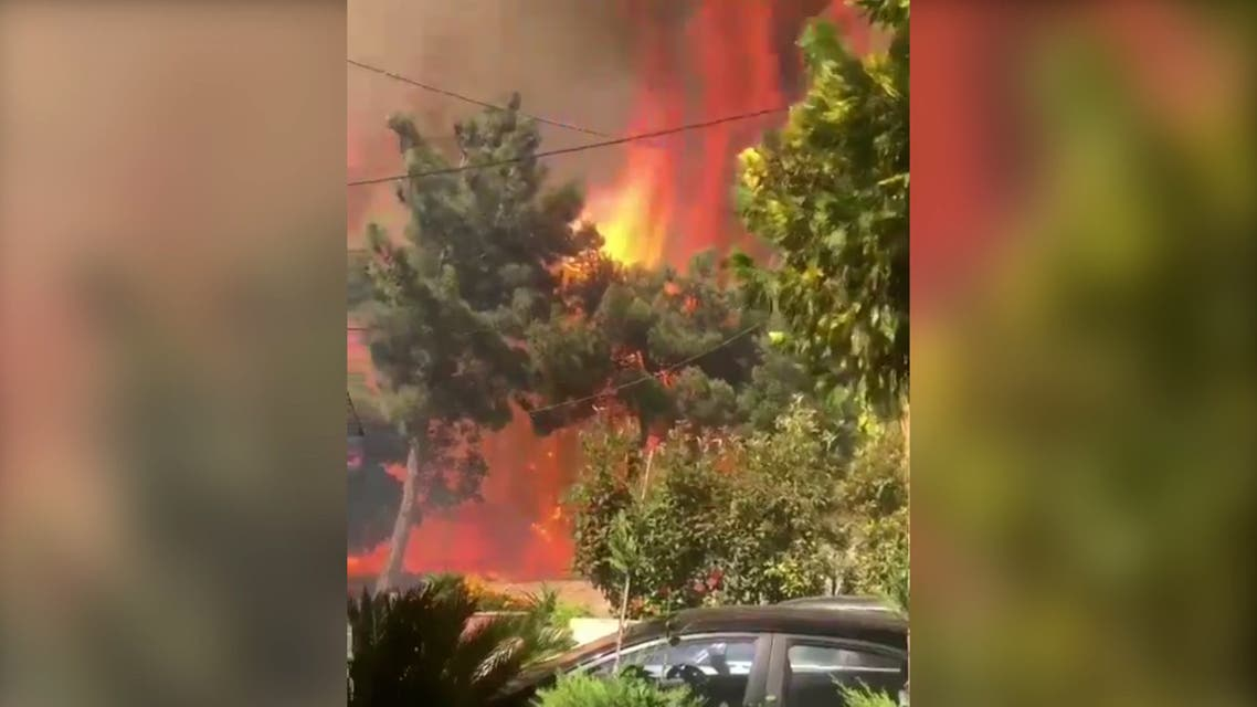 Massive fire in north Lebanon's Qoubaiyat with flame fronts 10s of meters high