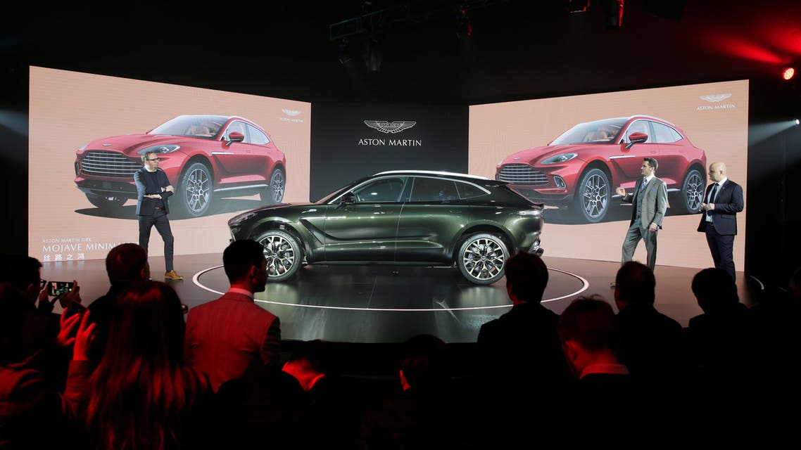 Aston Martin DBX, the company's first sport utility vehicle, is displayed at its global launch ceremony in Beijing, China November 20, 2019. (Reuters)