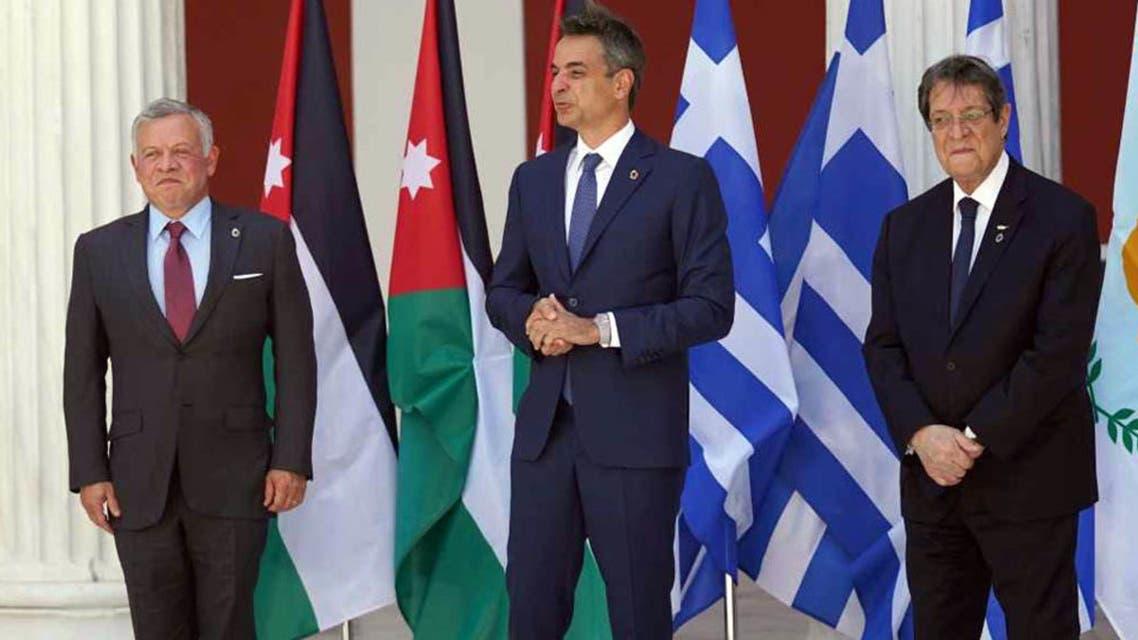 قادة الأردن واليونان وقبرص