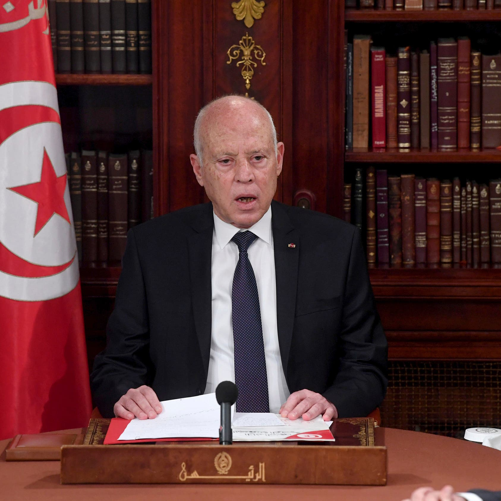 Tunisia president says he will not become a dictator after arrest of MP blogger Ayari
