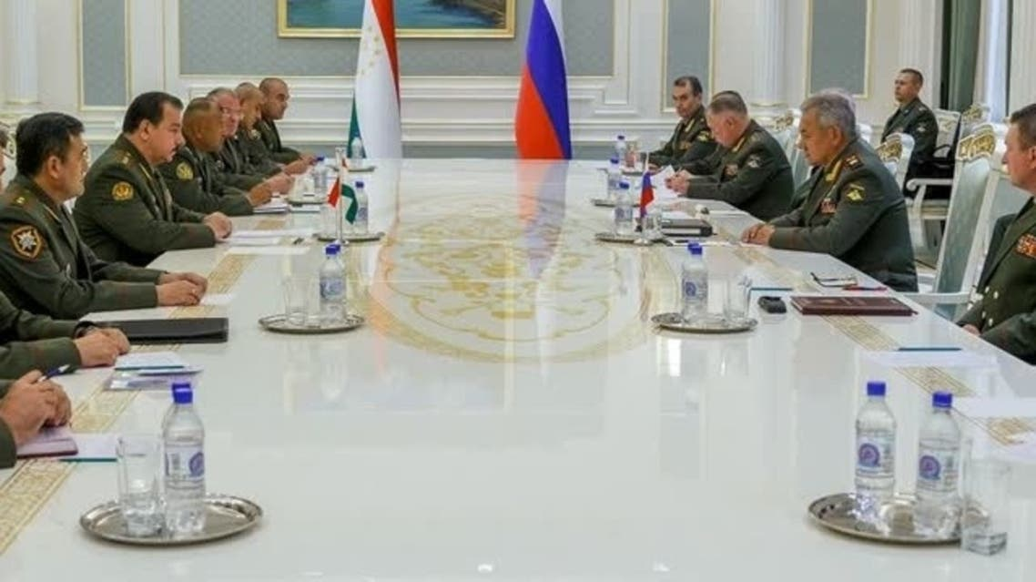 Russian Minister of Defense Sergei Shoigu at meeting of Council of Defense Ministers of SCO (shanghai cooperation organization) countries in Dushanbe, Tajikistan, July 28, 2021. (Reuters)