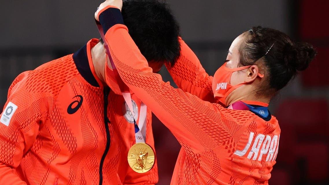 اليابان تظفر بالذهب في منافسات كرة الطاولة خلال الأولمبياد