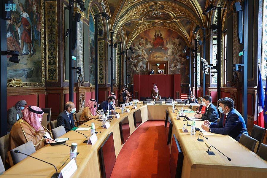 من زيارة وزير الخارجية السعودي إلى مجلس الشيوخ الفرنسي