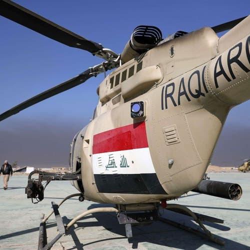 """العراق.. سقوط مروحية خلال """"مهمة قتالية"""" ومقتل 5 عسكريين"""
