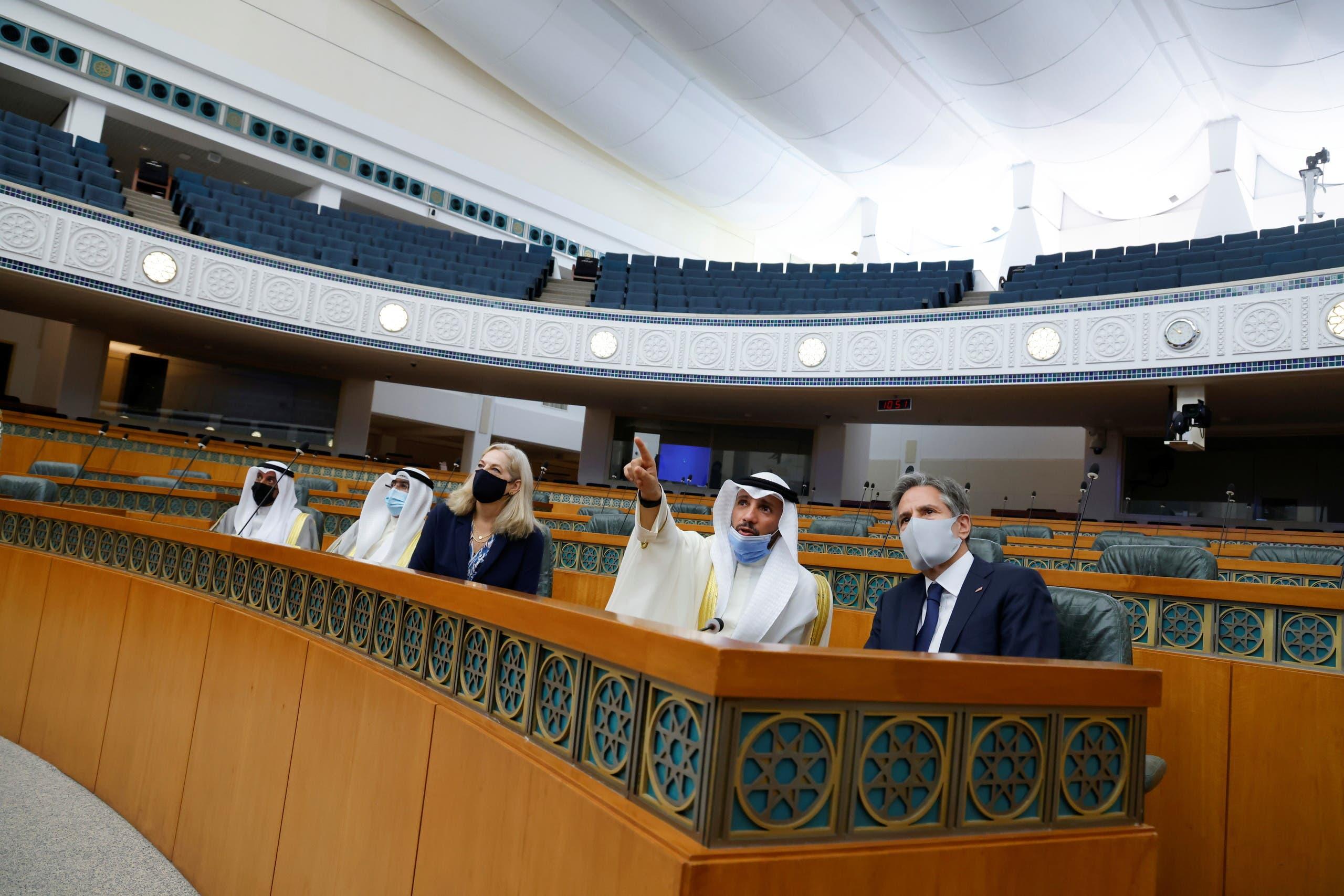 بلينكن في مجلس الأمة الكويتي