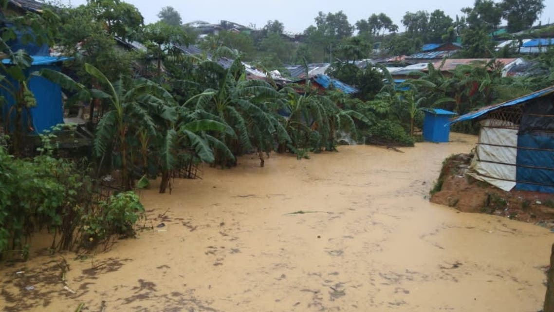 General view of a flooded area following heavy monsoon rains at Cox's Bazar, Bangladesh July 27, 2021 in this picture taken July 27, 2021. Arakan Times/via REUTERS THIS IMAGE HAS BEEN SUPPLIED BY A THIRD PARTY. MANDATORY CREDIT. NO RESALES. NO ARCHIVES.