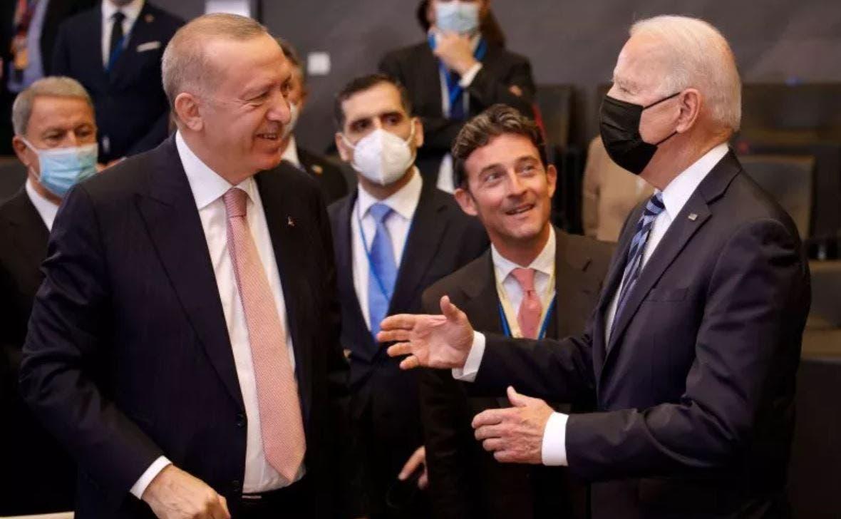 الرئيسان جو بايدن  رجب طيب أردوغان
