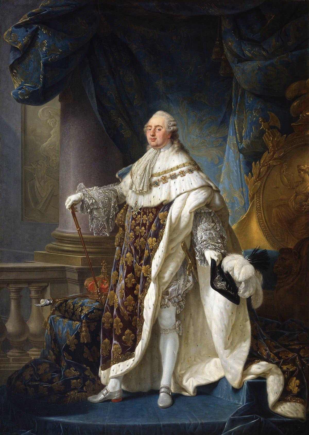 لوحة تجسد الملك الفرنسي لويس السادس عشر
