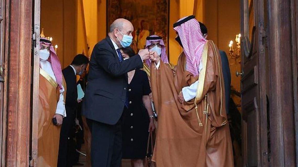دیدار ژان ایو لودریان با شاهزاده فیصل بن فرحان