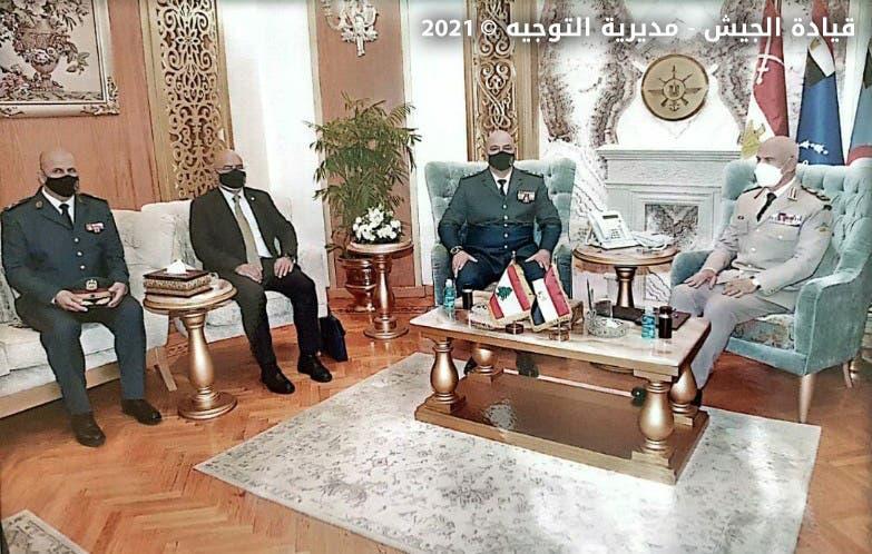 من زيارة قائد الجيش اللبناني إلى مصر