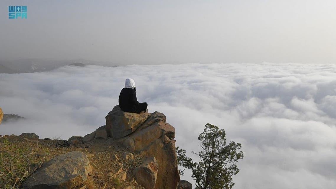 In pictures: 'Low clouds' phenomenon in Saudi Arabia's Asir region draws visitors