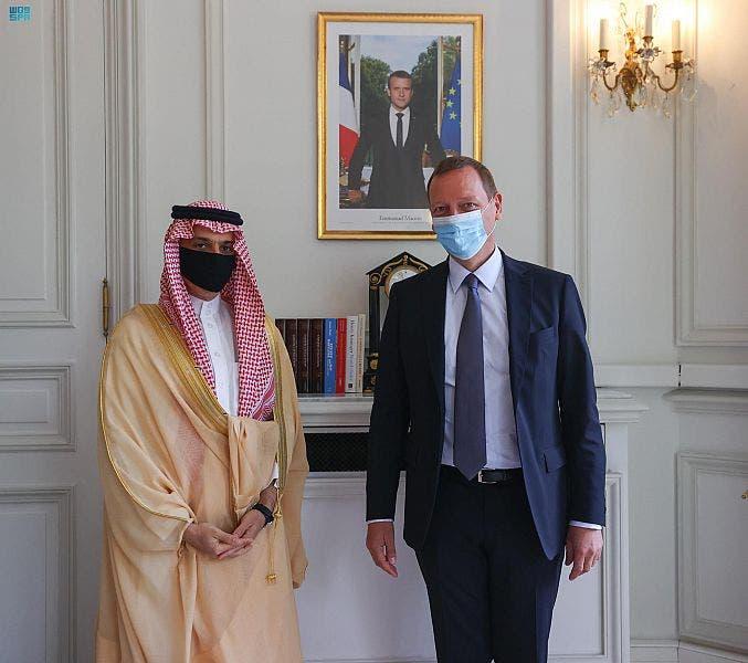 لقاء وزير الخارجية السعودي بمستشار الرئيس الفرنسي
