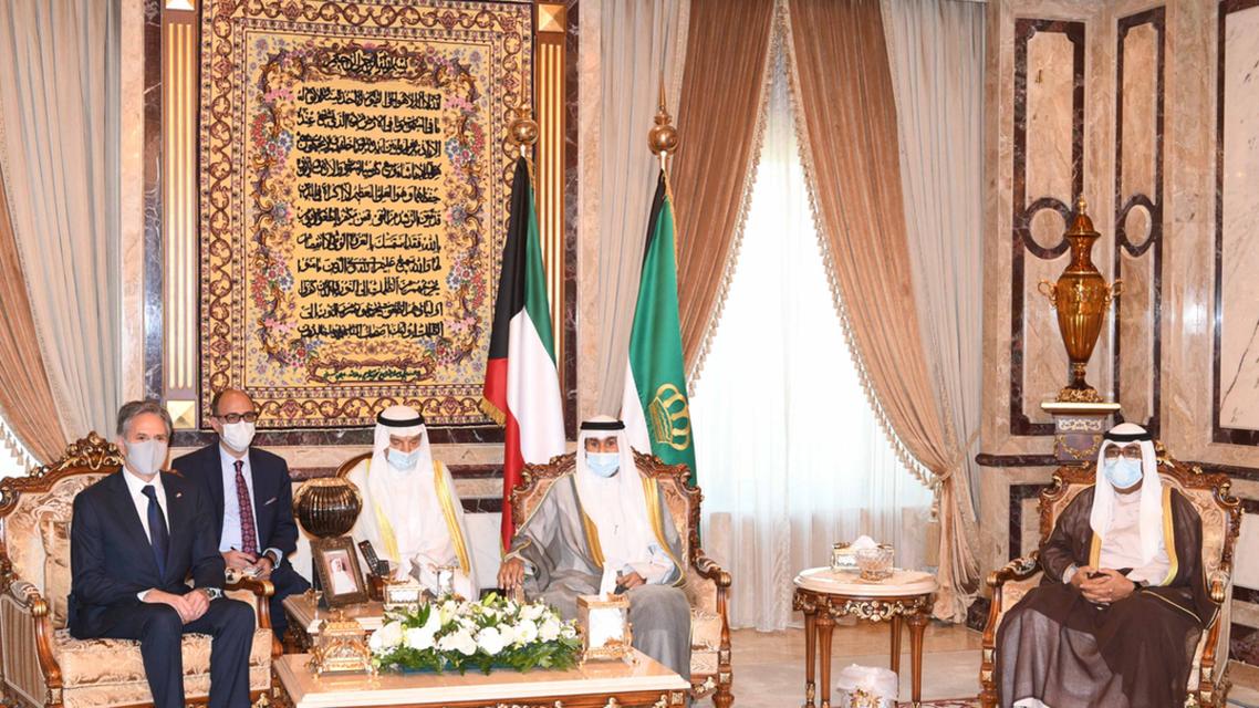 امیر و ولی عهد کویت در دیدار با وزیر خارجه آمریکا