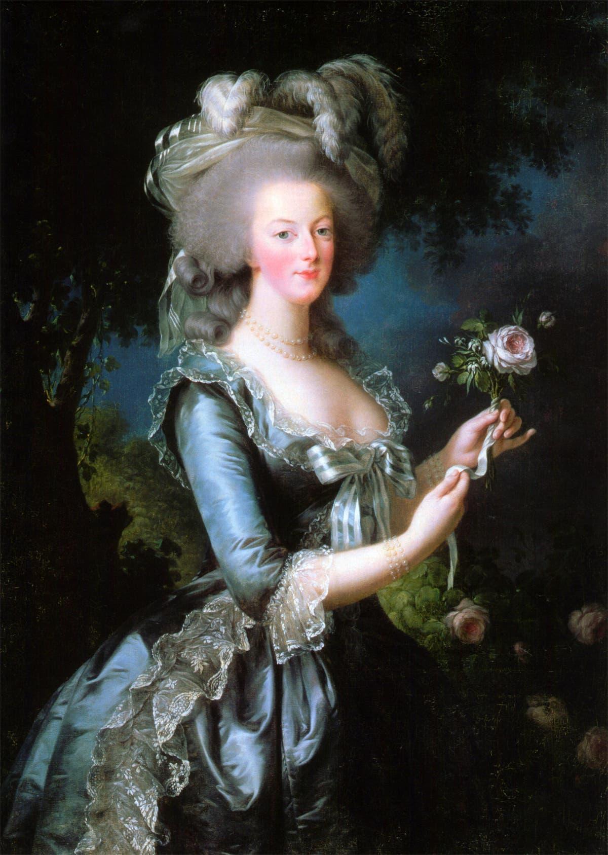 لوحة تجسد الملكة الفرنسية ماري أنطوانيت