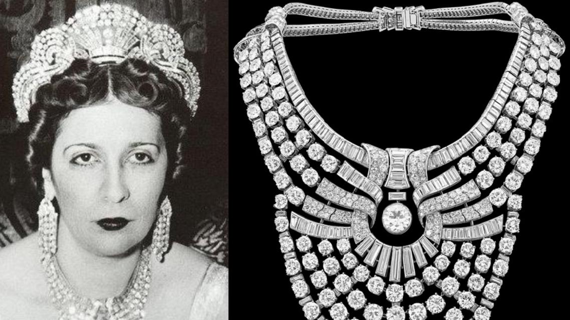 صنعوها قبل 81 سنة، وكانت حول عنق الملكة دائما