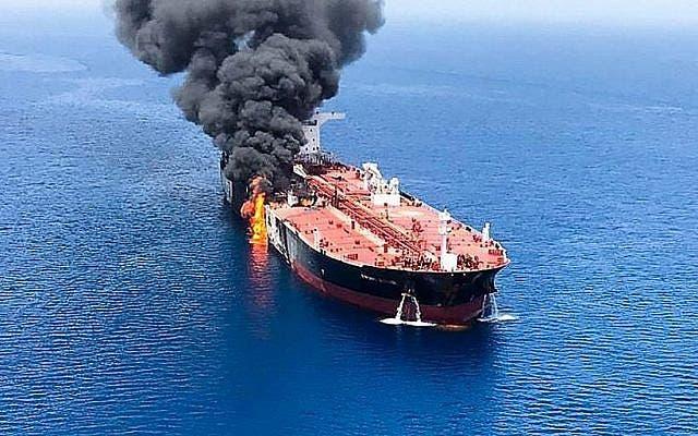 السفينة الإسرائيلية في بحر العرب