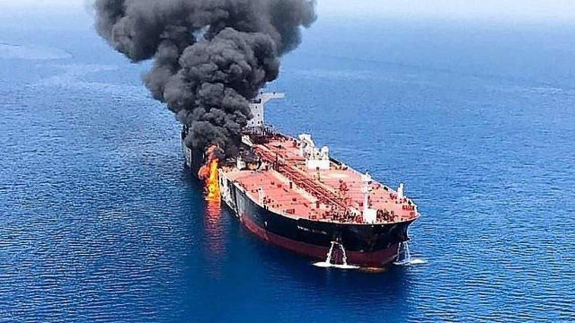 الصورة نقلا عن تايمز أوف إسرائيل السفينة الإسرائيلية في بحر العرب