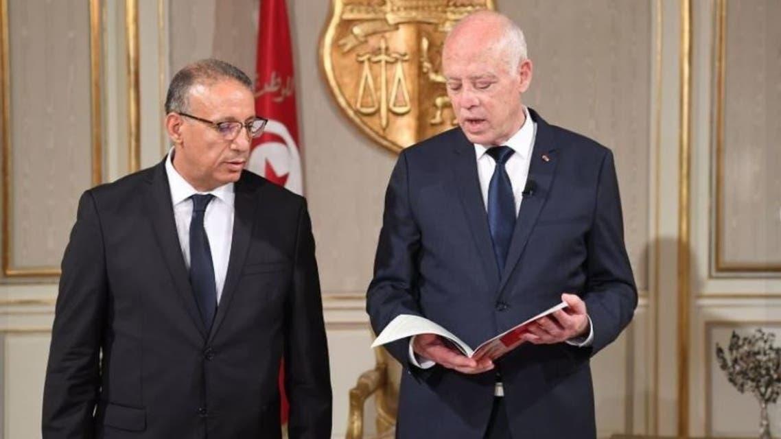 الرئيس التونسي ووزير الداخلية المكلف