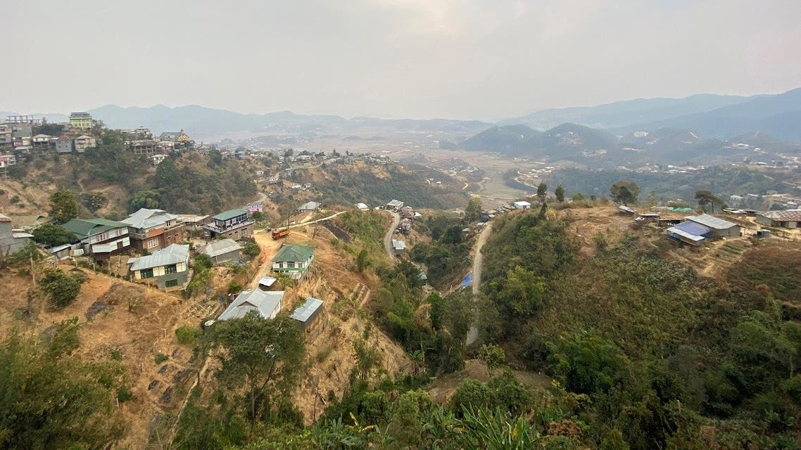 A general view shows Champhai town in India's northeastern state of Mizoram. (AFP)