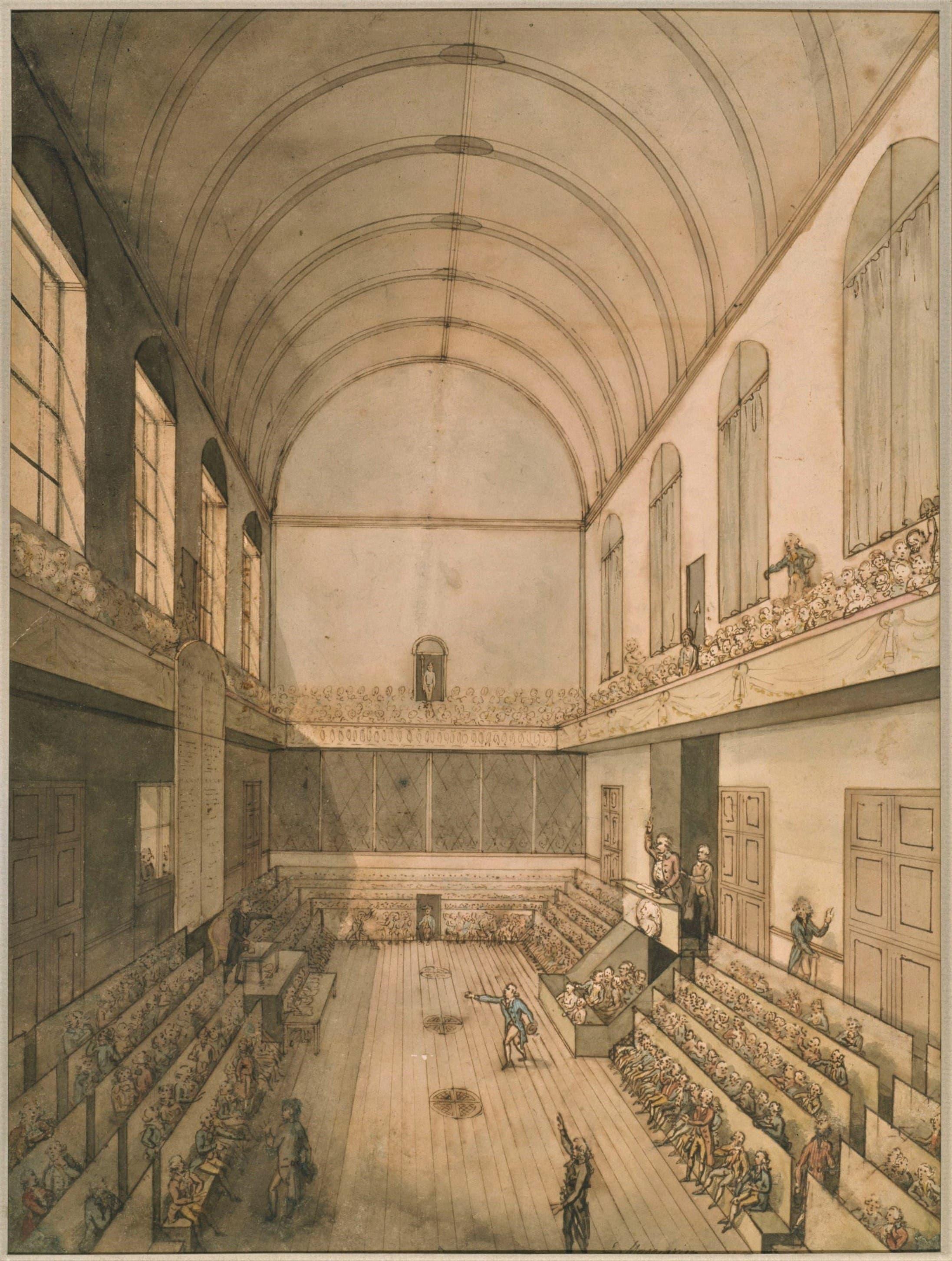 رسم تخيلي لاجتماع المجلس الوطني عام 1793