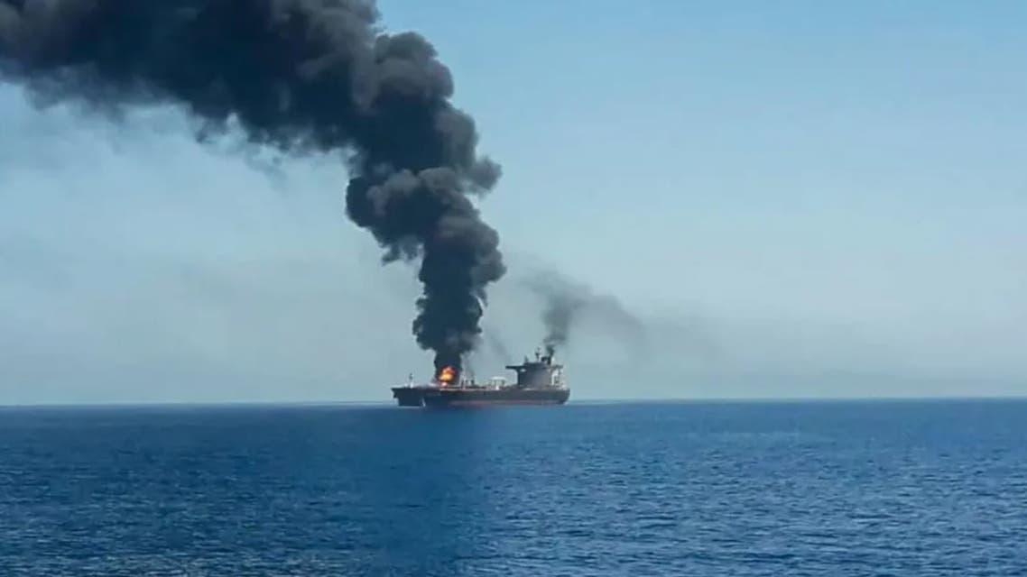 الصورة نقلاً عن جيروزاليم بوست - سفينة إسرائيلية في بحر العرب