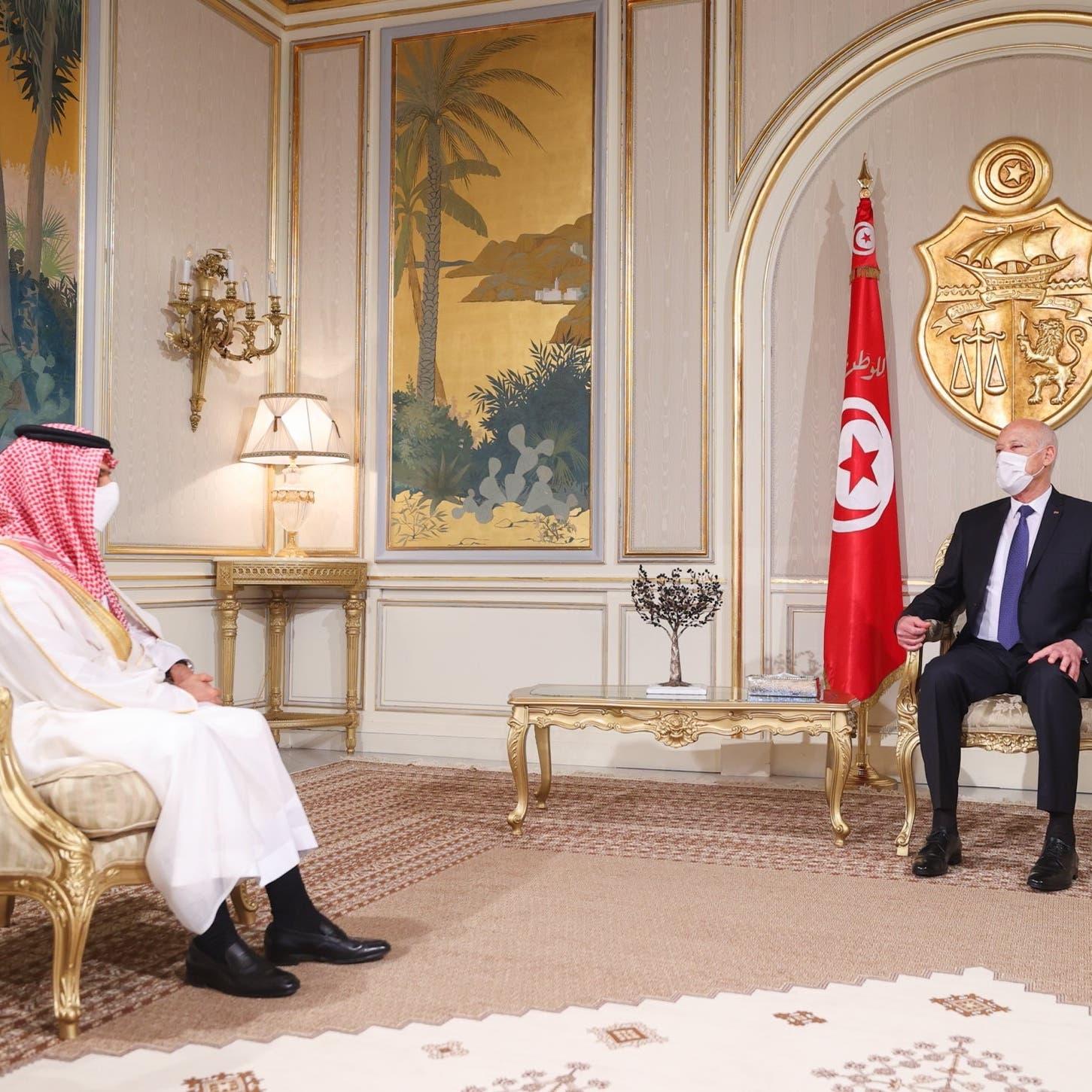 فيصل بن فرحان يؤكد لسعيّد حرص السعودية على استقرار تونس