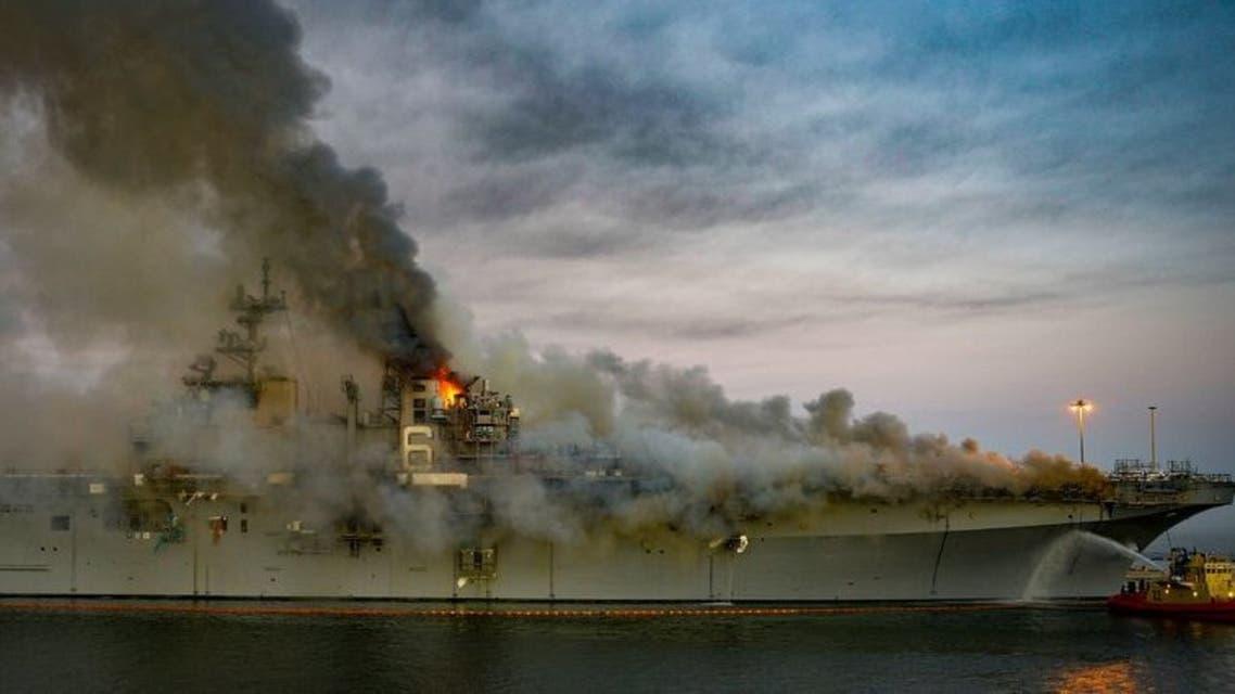 حريق السفينة