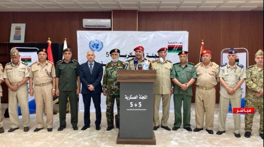 اللجنة العسكرية المشتركة 5+5 التي أعلنت نهاية يوليو الماضي فتح الطريق الساحلي