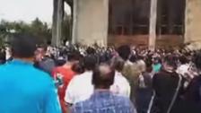فيديو.. تظاهرات وسط طهران تطالب بإسقاط النظام