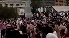 سرکوب تجمعات اعتراضی در تهران؛ شعار «مرگ بر دیکتاتور» در حمایت از خوزستان