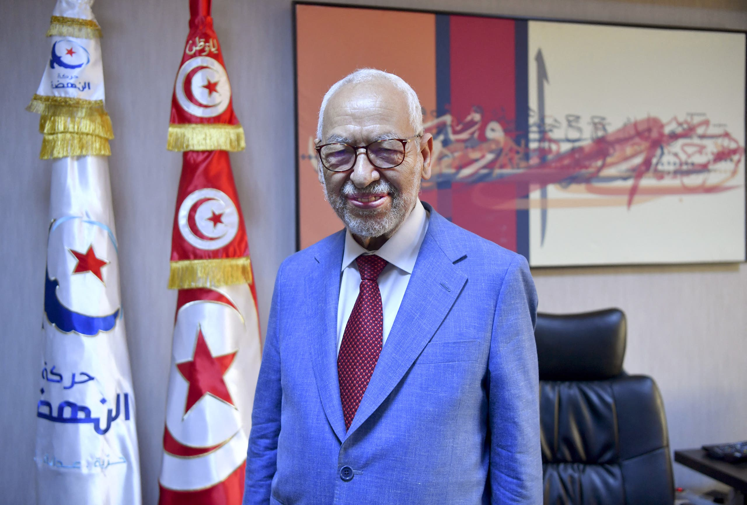 Tunisia's parliament speaker and Islamist Ennahdha party leader Rached Ghannouchi says the party is the victim of a coup d'état in Tunisia. (File photo: AFP)