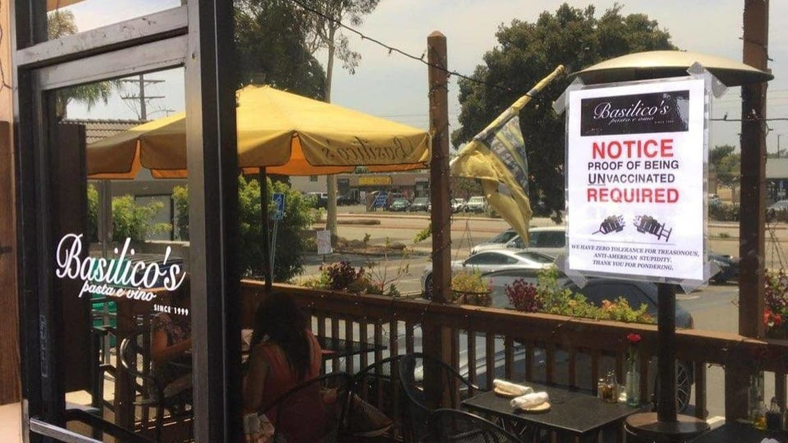 Tony Roman's Italian restaurant Basilico's Pasta e Vino in Huntington Beach in California