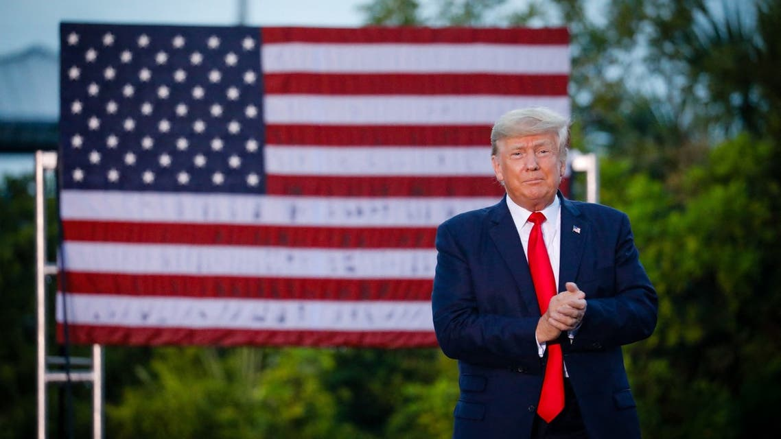 SARASOTA, FL - JULY 03: Former U.S. President Donald Trump arrives to hold a rally on July 3, 2021 in Sarasota, Florida. Co-sponsored by the Republican Party of Florida, the rally marks Trump's further support of the MAGA agenda and accomplishments of his administration. Eva Marie Uzcategui/Getty Images/AFP